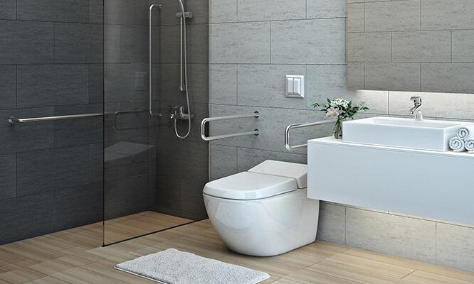 Équipement pour salle de bain PMR